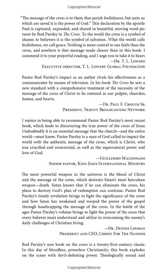 The Cross Book - Preview Endorsements